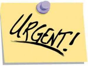 post it urgent